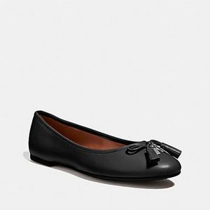 Coach Benni Leather Upper Flats Size 9